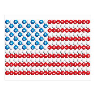 Pool Ball American Flag Postcard