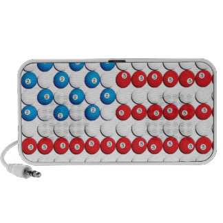 Pool Ball American Flag Notebook Speakers
