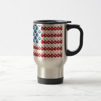 Pool Ball American Flag Stainless Steel Travel Mug