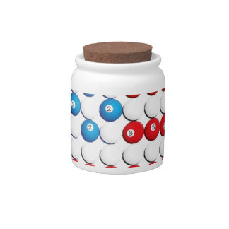 Pool Ball American Flag Candy Dishes