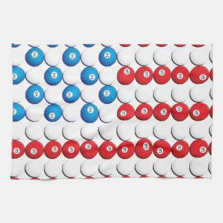 Pool Ball American Flag Hand Towels