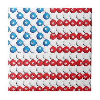 Pool Ball American Flag Tile