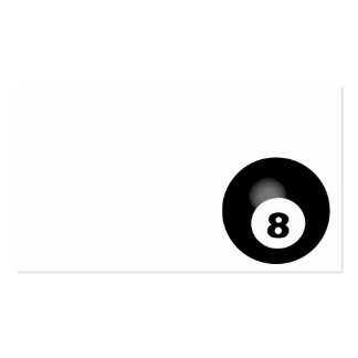 POOL BALL EIGHT BLACK WHITE SPORTS PACK OF STANDARD BUSINESS CARDS