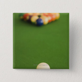 Pool Balls 15 Cm Square Badge