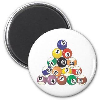 Pool Balls 6 Cm Round Magnet