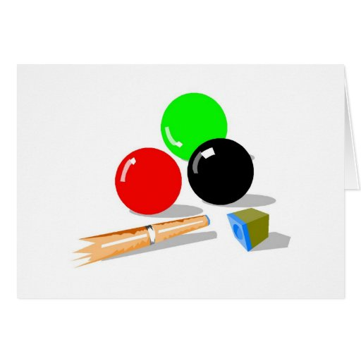 Pool Balls and Stick Greeting Card