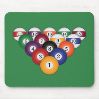 Pool Balls / Billiards: Mousepad