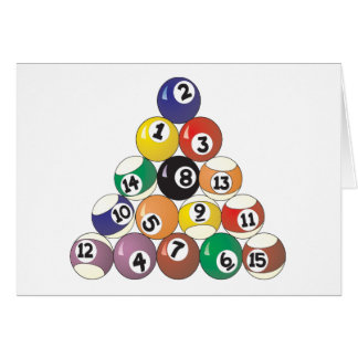 Pool Balls Card