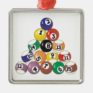 Pool Balls Christmas Ornament