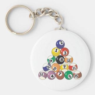 Pool Balls Key Ring
