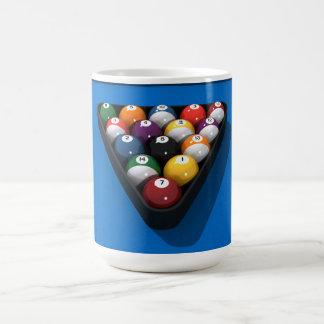 Pool Balls on Blue Felt: Coffee Mug