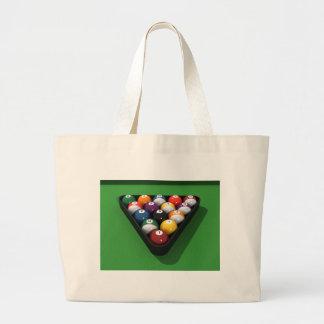 Pool Balls on Green Felt: Canvas Bag