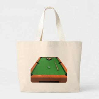 Pool Balls on Green Felt Billiards Table: Tote Bag