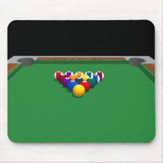 Pool Balls on Table: 3D Model: Mouse Mat