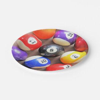 Pool Balls Paper Plates