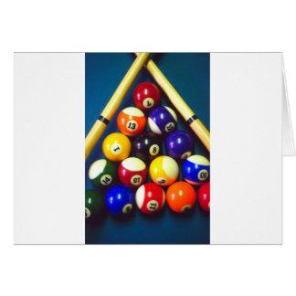 Pool Balls - Rack Em Up! Greeting Card