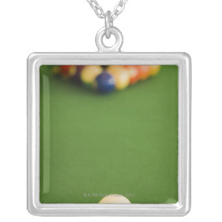 Pool Balls Silver Plated Necklace