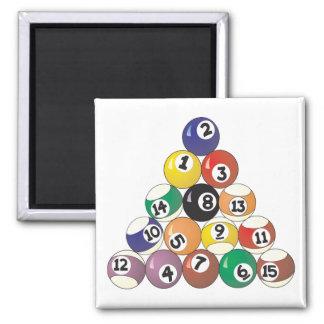 Pool Balls Square Magnet