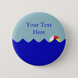 Pool Beach Ball (Customizable) 6 Cm Round Badge