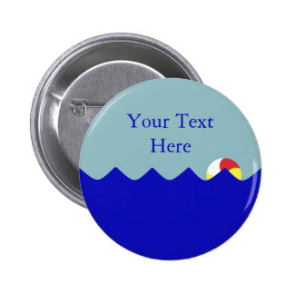 Pool Beach Ball (Customizable) 6 Cm Round Badge