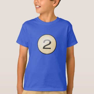 Pool Billiard Ball Number 2. Front & back print. T-Shirt