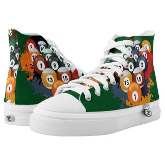 Pool Billiard Balls High Tops