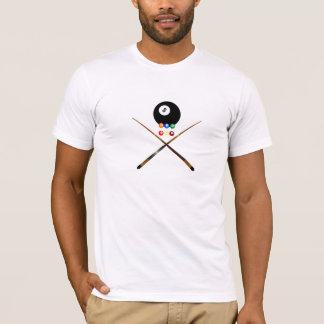 pool billiard crossbones t-shirt