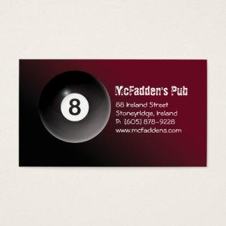 Pool - Billiards 8 Ball Business Card Burgundy