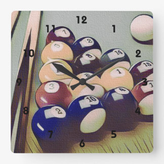 Pool Billiards Games Room Clock
