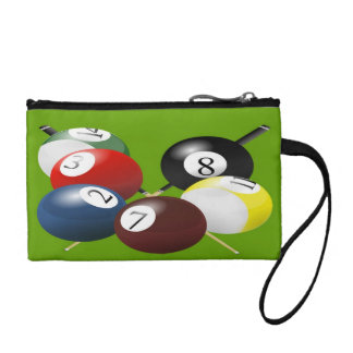 Pool / Billiards Key Coin Clutch Coin Purses