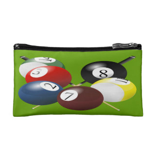 Pool / Billiards Small Cosmetic Bag