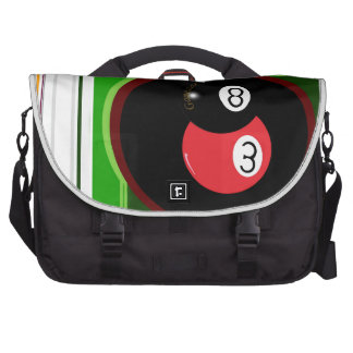 POOL BLACK AND RED BALL COMMUTER BAG