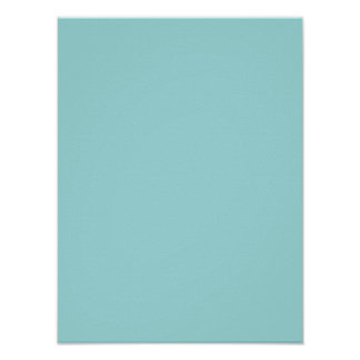 Pool Blue Personalized Aqua Teal Color Background Poster