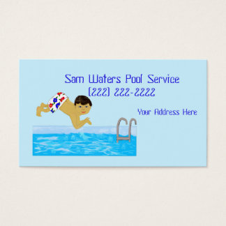 Pool Boy Swimming Template Business Card