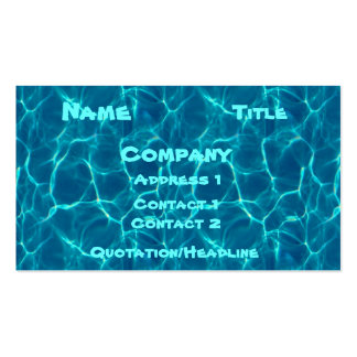 Pool Card Pack Of Standard Business Cards