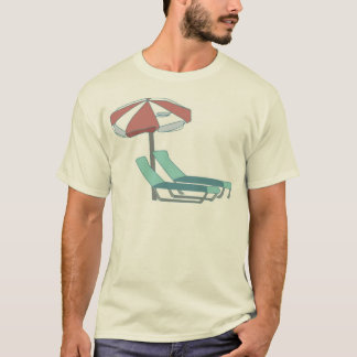 Pool Chairs and Umbrella T-Shirt