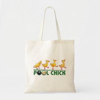 Pool Chick Budget Tote Bag