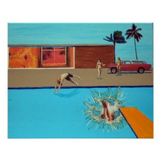 pool crashing poster