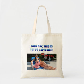 Pool Day is Tote's Happening (Low Cost) Tote Bag