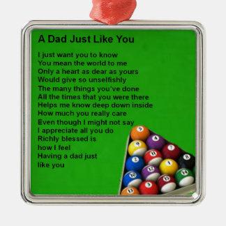 Pool Design -  Dad Poem Christmas Ornament