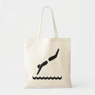 Pool Diver Tote Bag