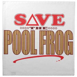 Pool Frog Save Napkin