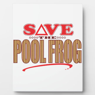 Pool Frog Save Plaque