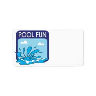 Pool Fun Address Label
