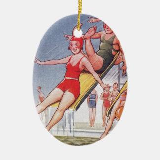Pool Fun Vintage Christmas Ornaments