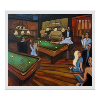 Pool Hall -Valerie Vescovi Poster
