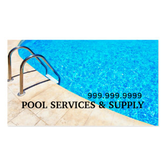Pool Hot Tub Jacuzzi Installation Repair Business Card Templates