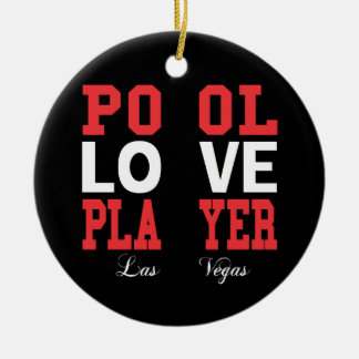 Pool Love Player Christmas Ornament