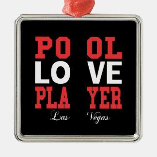 Pool Love Player Christmas Ornament