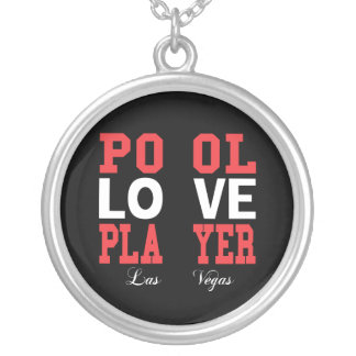 Pool Love Player Silver Plated Necklace